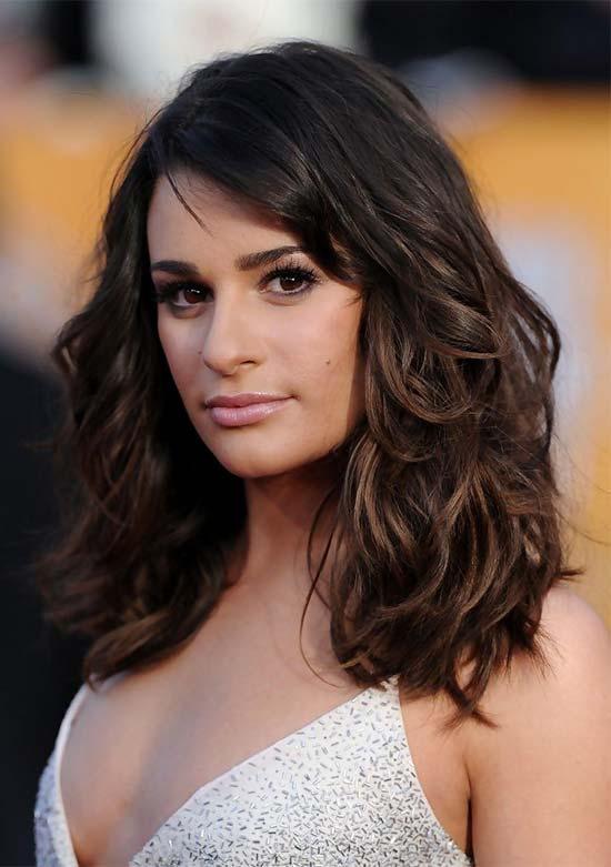 Lea Michele length shaagy Hair cut