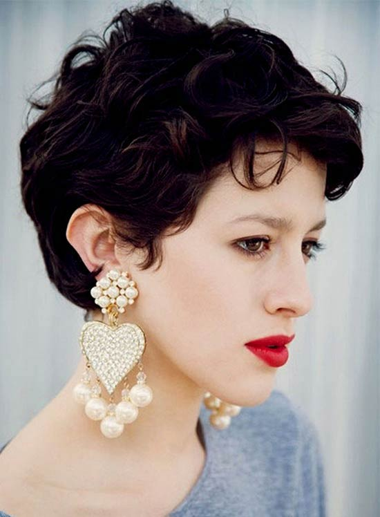 Liv tyler Short Curly Pixie wavy Cuts