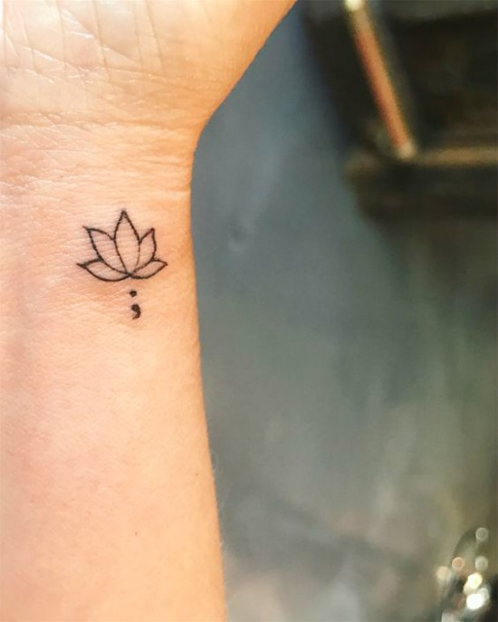 Lotus Flower Tattoo on Wrist