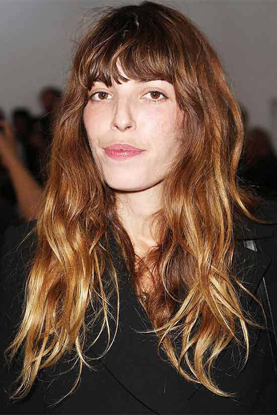 Lou Doillon Best Long Hairstyles with Fringe Bangs Women
