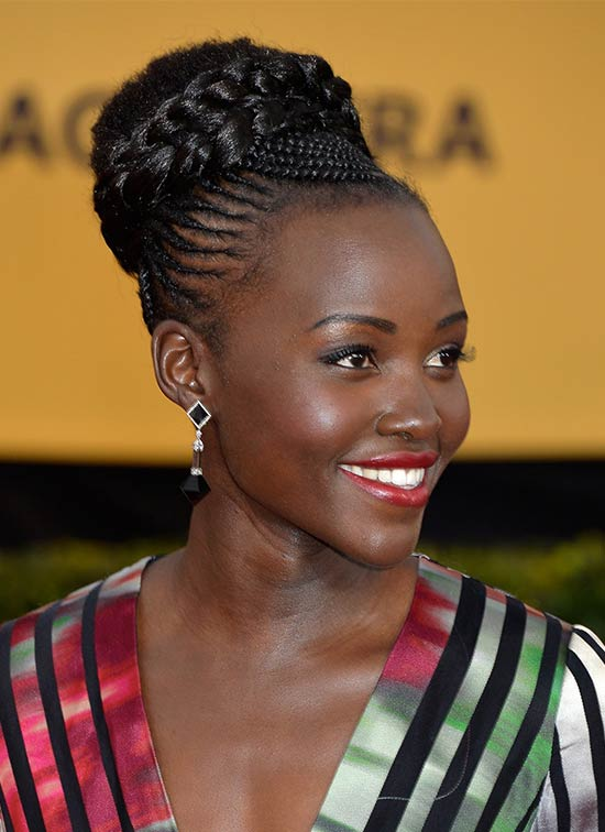 Lupita Nyong UPDO hair styles for Black Women