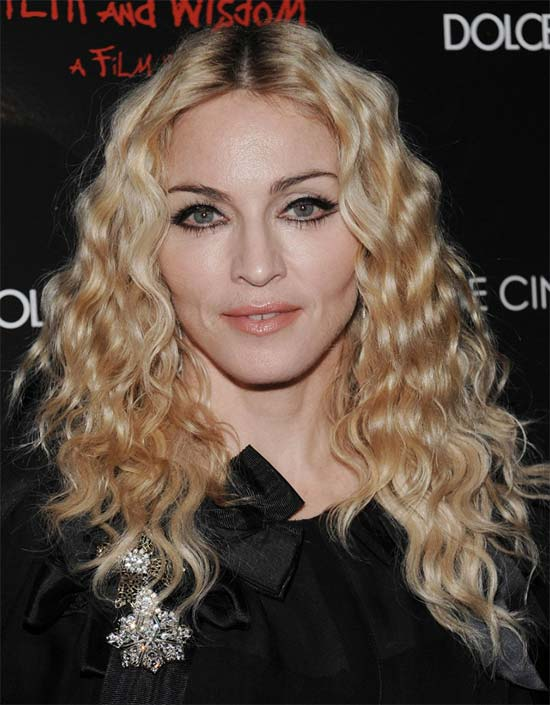 Madonna Louise Long Curly hair