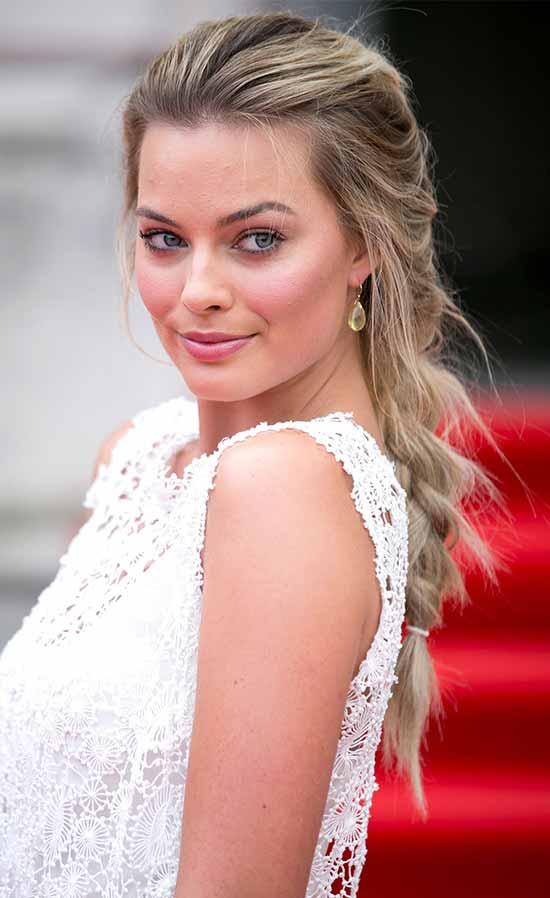 Margot Robbie French Braid