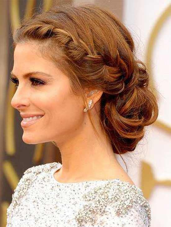 Maria Menounos Braided Hairstyle