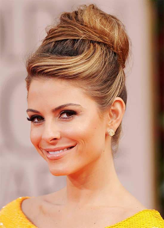 Maria-Menounos-Bun-Hair-style
