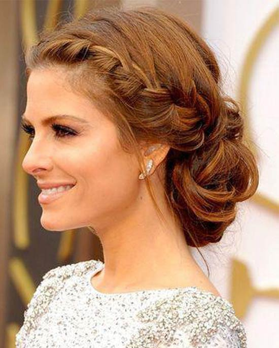 Maria Menounos Updo For Thin Hair