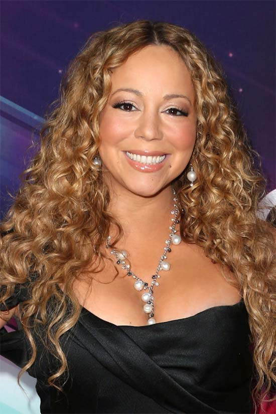 Mariah Carey long Curly Hair style