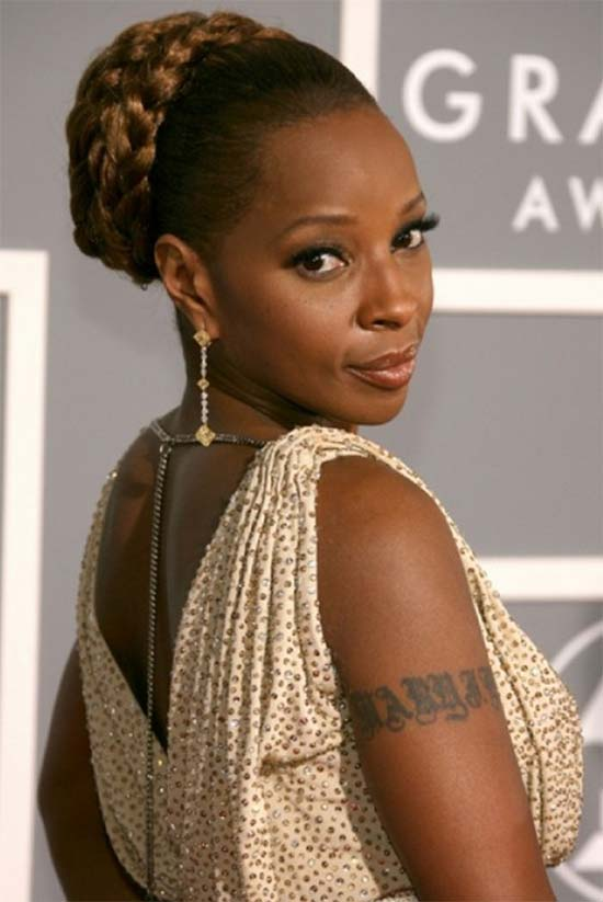 Mary J. Blige Updo-Braided-Hairstyles-For-Black-Women
