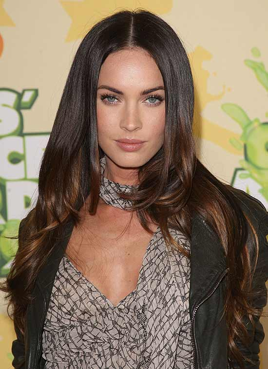 Megan fox Long Bob Layered Shag Hairstyles