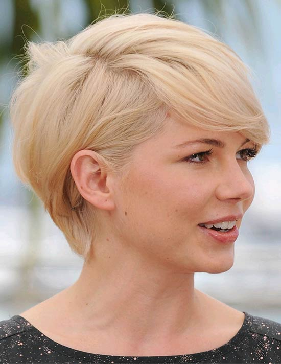 Michelle Williams Short Blonde Hairstyles