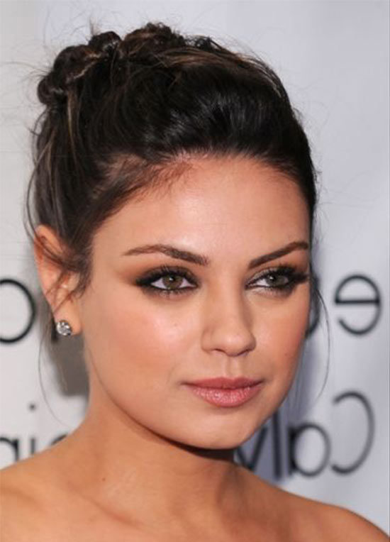 Mila Kunis Updos for Medium Length Hair