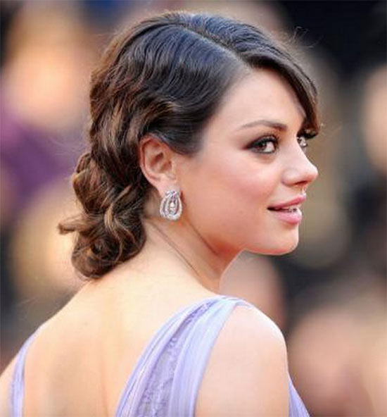 Mila Kunis Wedding Hairstyle