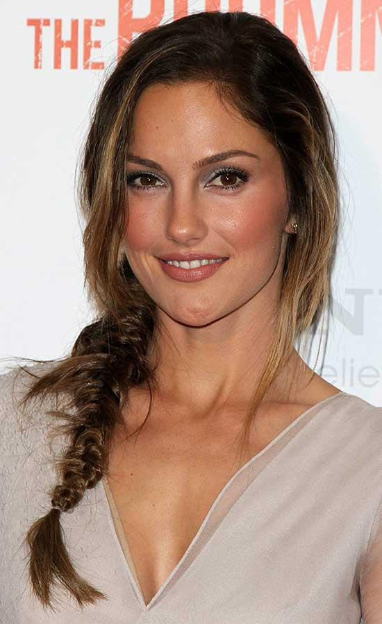 Minka Kelly Braided Hairstyle