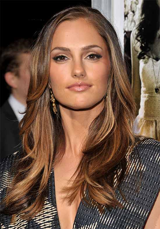 Minka Kelly long thin hair style