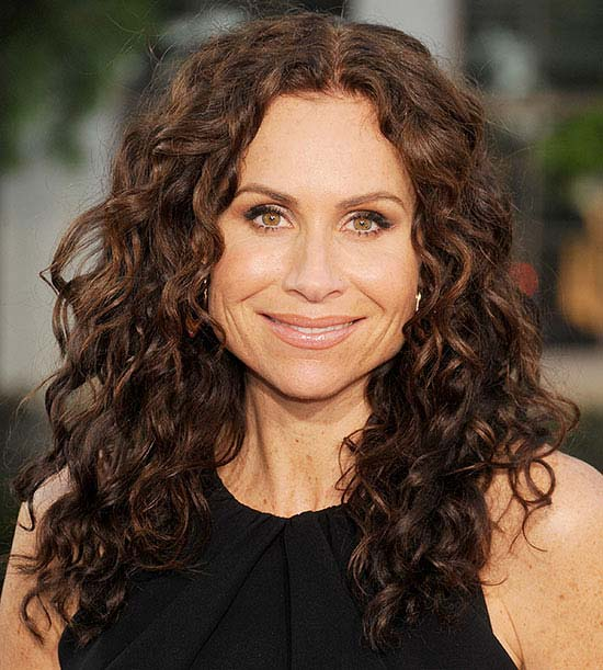 Minnie Driver Long Curly hair Styles