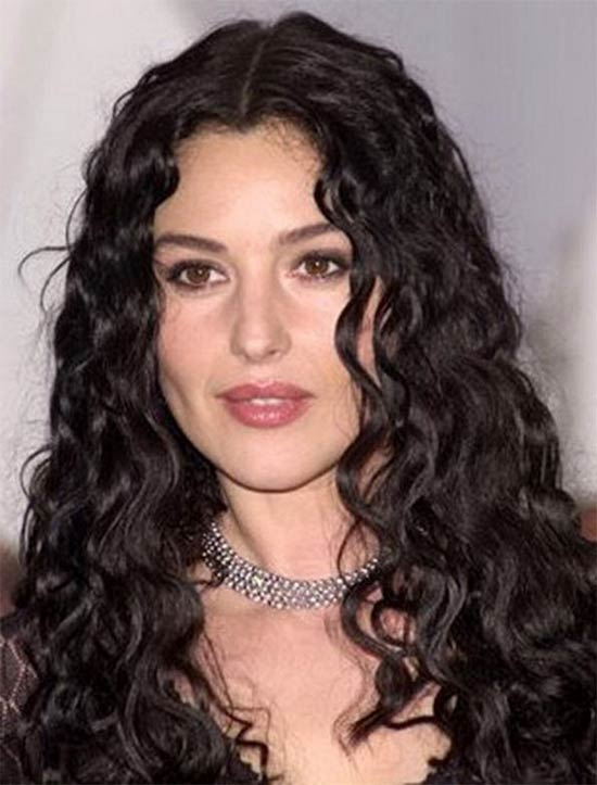 Monica-Bellucci Long Curly Hair