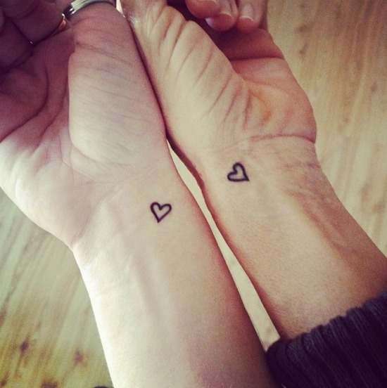 Mother Daughter Tattoo on Wrist