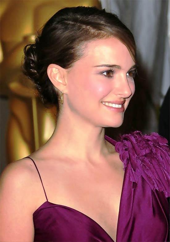 Natalie Portman Updo For Thin Hair