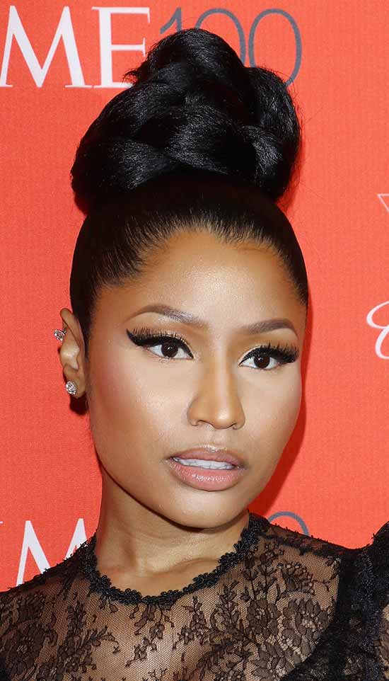 Nicki Minaj Top knot hair style