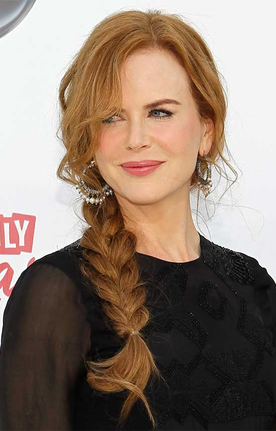 Nicole Kidman Braided Hairstyle