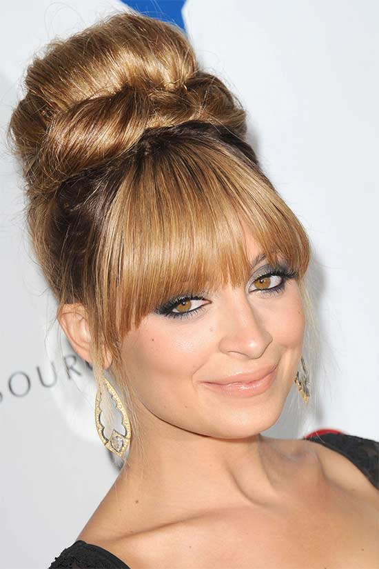 Nicole Richie Updo For Thin Hair