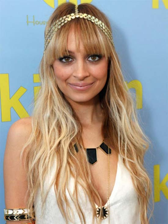 Nicole-Richie long hair with bangs