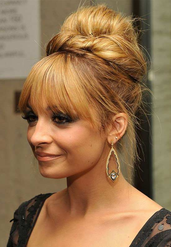 Nicole richie long hair promupdo