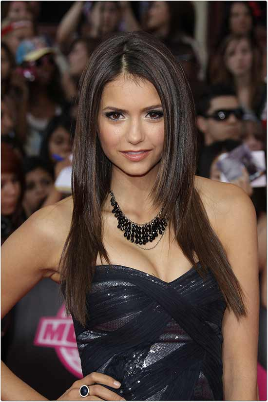Nina Dobrev Long Straight Hair