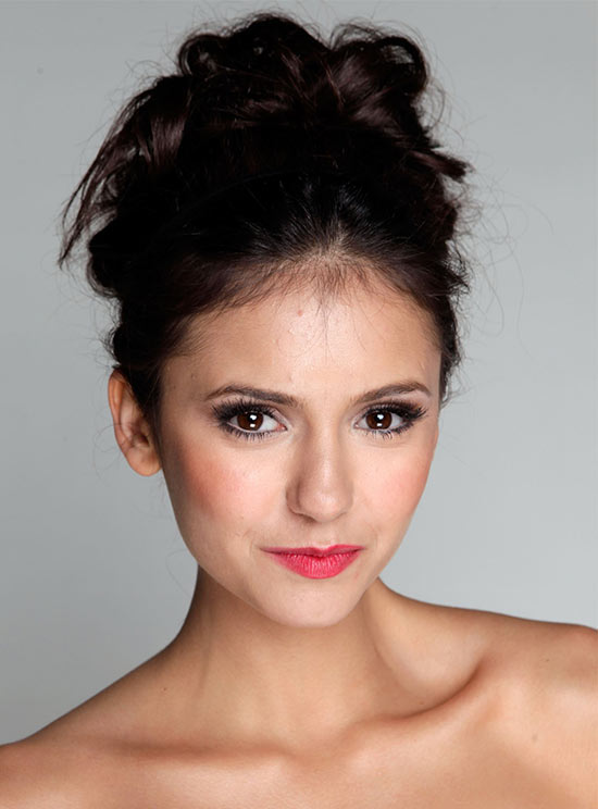 Nina Dobrev Prom Updo Hairstyle