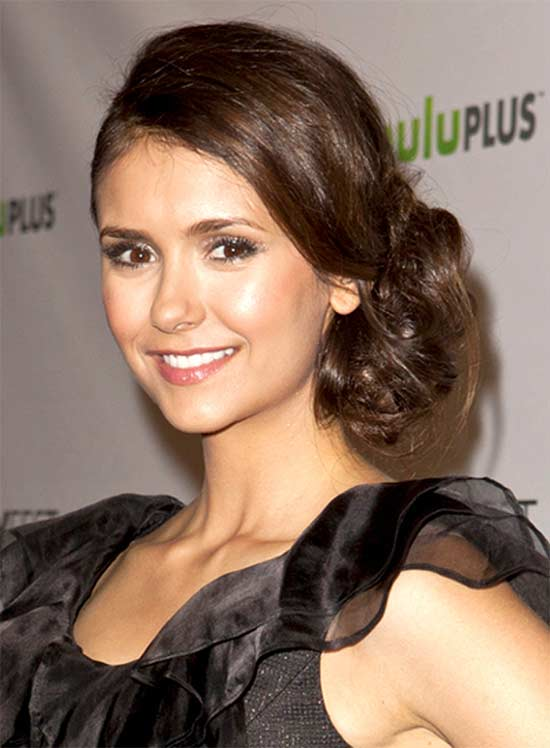 Nina Dobrev Updo for Long hair
