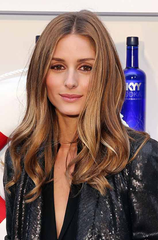 Olivia Palermo-honey brown hair