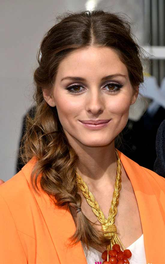 Olivia Palermo's Long Braided Hairstyle