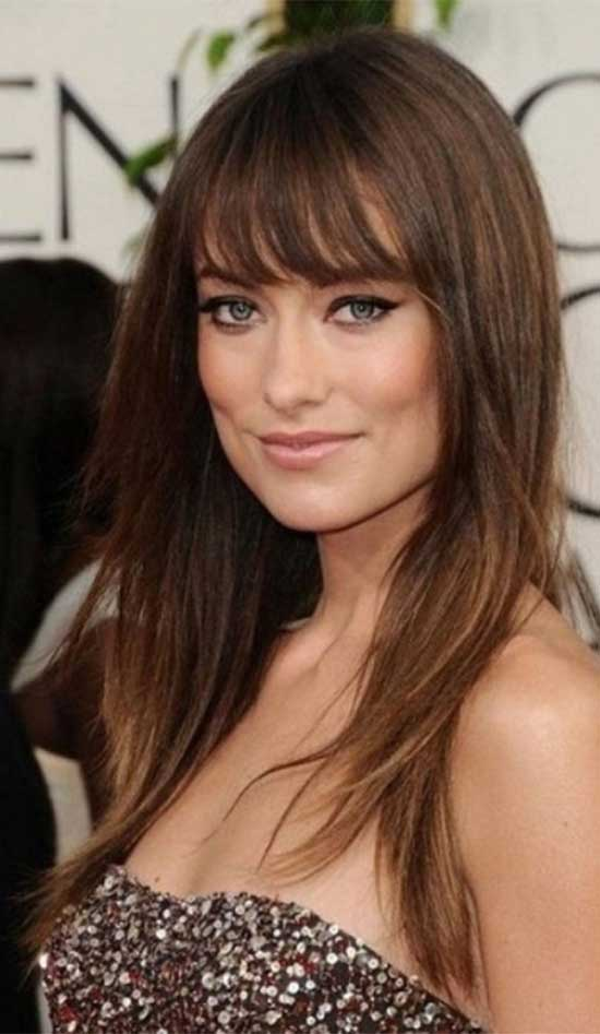 Olivia-Wilde Fine Hairstyle with Bangs