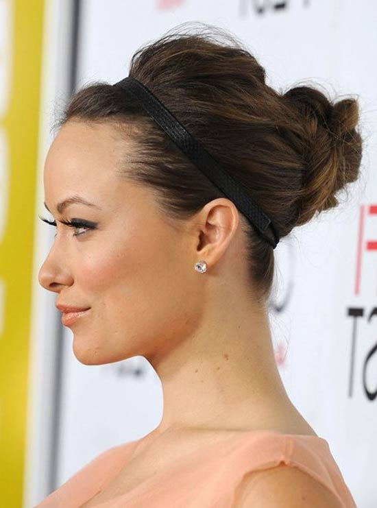 Olivia Wilde Updos for Medium Length Hair