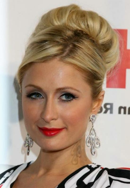 Paris Hilton bun hair style