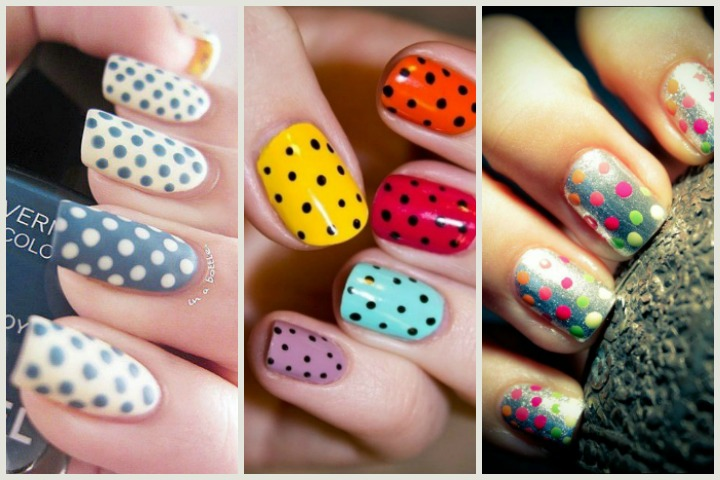 40 beautiful polka dot nails nail trends to try right now prinsesfo Choice Image