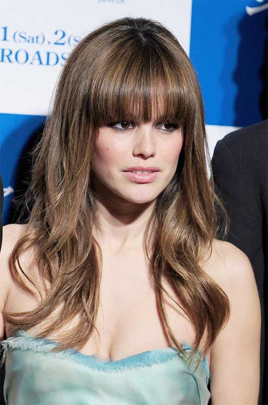 Rachel Bilson long hair with bangs