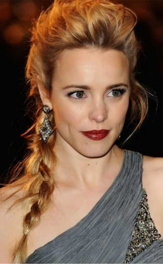 Rachel McAdams Braided Hairstyle