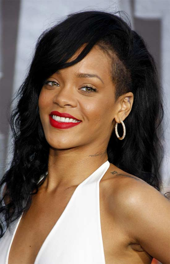 Rihanna Black Hairstyles With Bangs