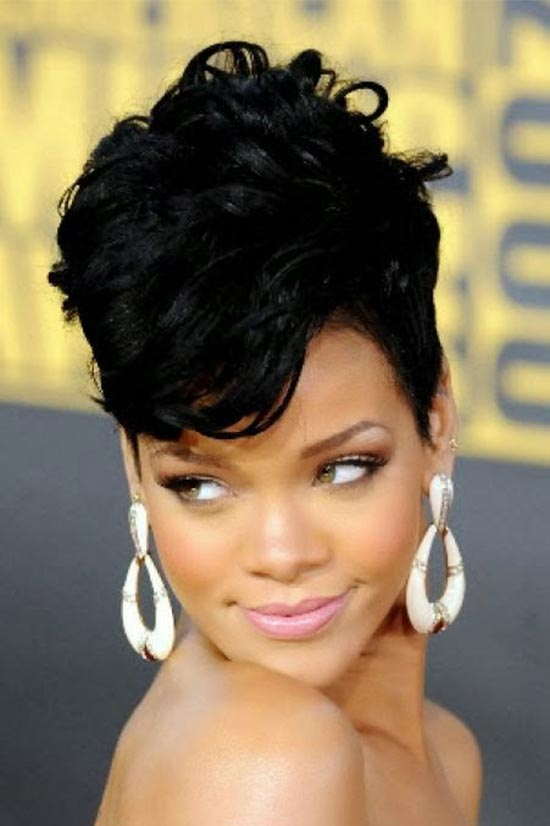 Rihanna Updo For Thin Hair
