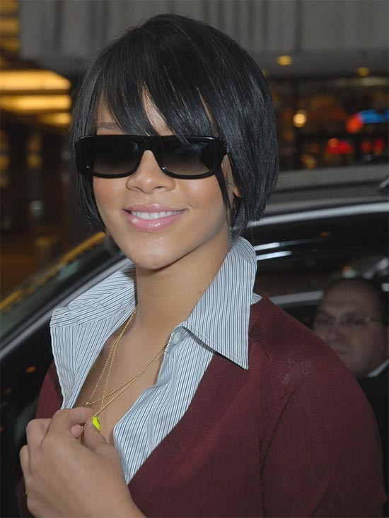 Rihanna bob Short Hairstyles for Black Women
