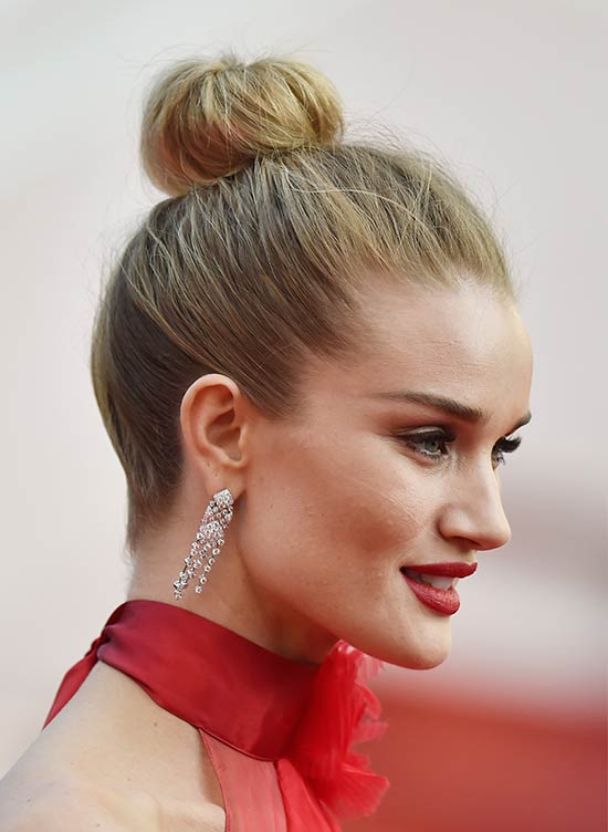 Rosie Hunginton Top Knot hair style