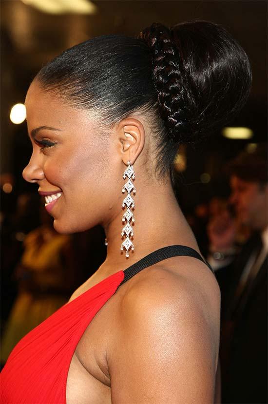 Sanaa Lathan Bun Hairstyle