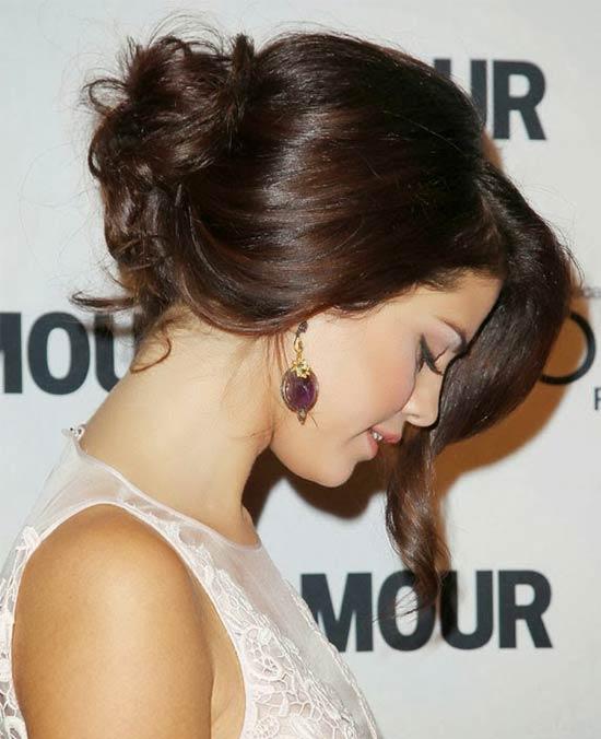 Selena Gomez Updo for Long hair