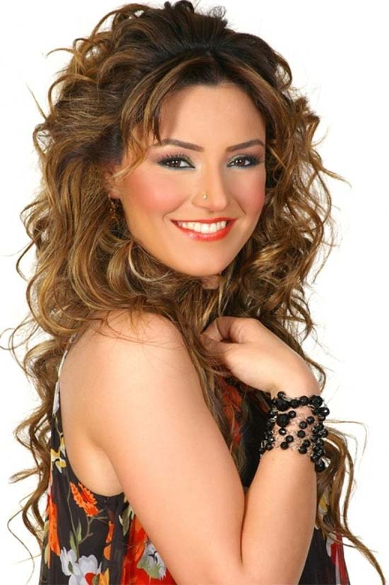 Sevcan Orhan Curly Hair with Bangs