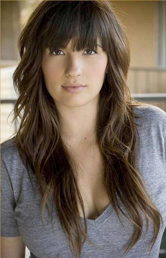 Shay Maria Hairstyles For Long Layered Hair With Bangs