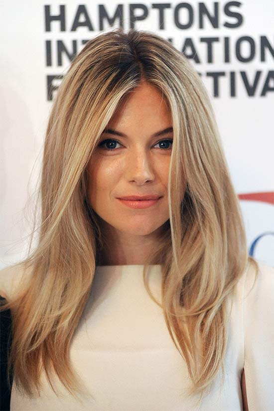 Sienna Miller Long Straight Hair