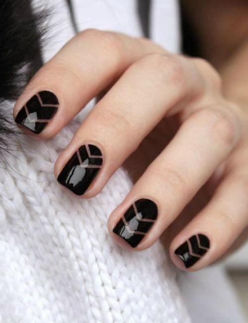 40 beautiful geometric nail art ideas youll love simple geometric nail art prinsesfo Images
