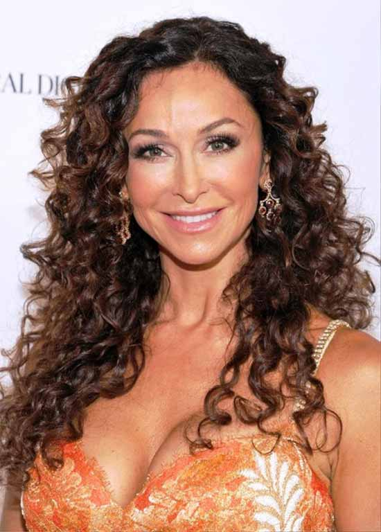 Sofia Milos Long Curly Hairstyles