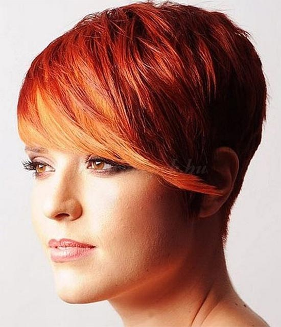 Steven Carey short fringe hairstyle